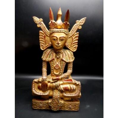 Statue grand bouddha birman royal Shan milieu XXème