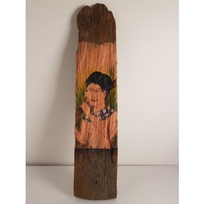 Panneau en bois peint Bali - Indonésie