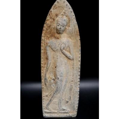 Statue bouddha thailandais: plaque votive de bouddha