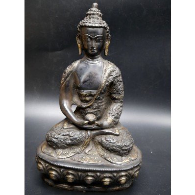 Statue grand bouddha inde en dyani mudra XXème