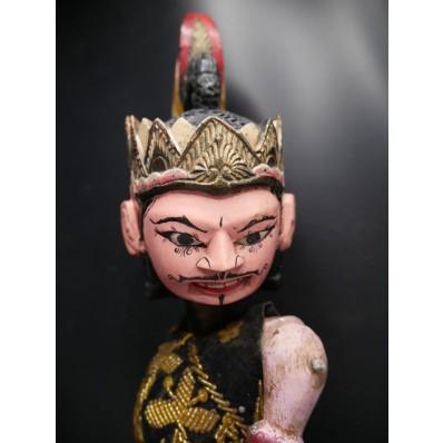 Wibisana : tête de marionnette balinaise milieu XXème