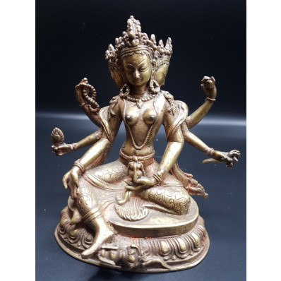 Statue tibétaine de Namgyalma & Ushnishavijaya mil. XXème