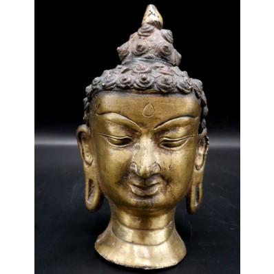 Tête de bouddha indienne milieu XXème
