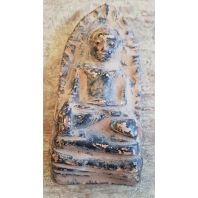 Statue thailandaise de bouddha en terre cuite XXème