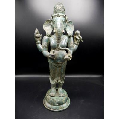 Grande statue ganesh indienne XXème