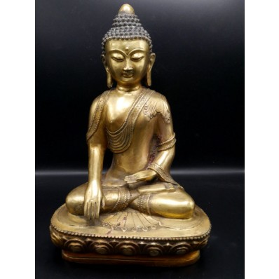 Grande Statue bouddha  en bhūmisparśa-mudrā XXème