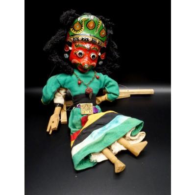 Marionnette népalaise double faces XXème
