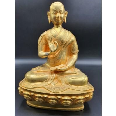 Grande statue bouddha en Shuni Mudra tibétain XXème