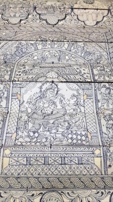 panneau mural en bambou d cor de la mythologie double sens hindou. Black Bedroom Furniture Sets. Home Design Ideas