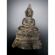 Statue bouddha birmanie en Dynai Mudra XXème
