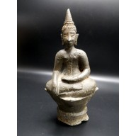Statue bouddha Laos : bouddha en bhumisparça mudra XXème