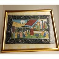 Peinture sur soie - Inde