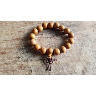 Bracelet mala en bois de poirier