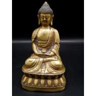 Statue bouddha en dyana mudra avec le bol a aumônes