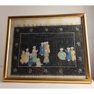 Miniature indienne Moghole sur tissu XXème