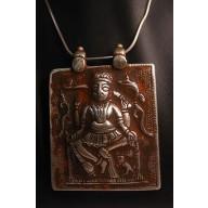 Grand pendentif indien en argent mil.XXème