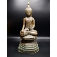 Statue bouddha birman Bhûmishparsha-mudrâ début XXème