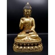 Grande statue bouddha en Shuni Mudra sino -tibétaine XXème