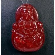 Pendentif en jade Guanyin
