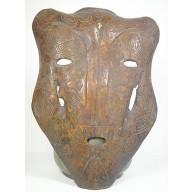 Très rare masque crâne animalier rituel