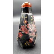 Flacon Chinois : décor floral