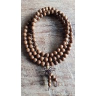 Bracelet collier Mala en bois de Oud