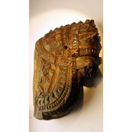 Statue indienne  : tête de cheval de temple indienne miieu XXème