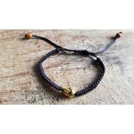 Bracelet Mala tibetain tressé bouddha