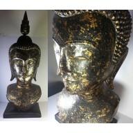 Grande tête de bouddha thailandaise XXème