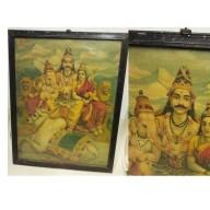 Grande Icône : Shiva, ganesha et Parvati  XXème