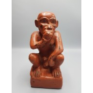 Statue birmane : singe en laque birmanie milieu XXème