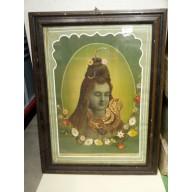Icone religieuse indienne de Krishna mil. XXème