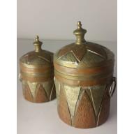 Boite orientale : pots berbères a épices