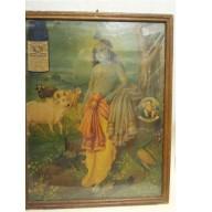 Icone religieuse de Krishna indienne mil. XXème