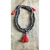 Bracelet mala tibetain en os de Yak peint à la main