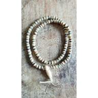 Bracelet Mala en os de yak et pierre 108 perles