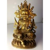Statue tibet : mahakala milieu XXème