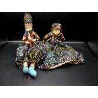 Kathputli : Marionnettes couple du rajastan XXème