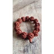 Bracelet Mala tibetain en graine de rudraksha