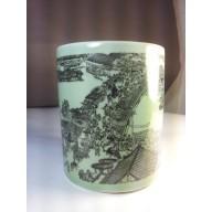 Pot chinoise en porcelaine XXème