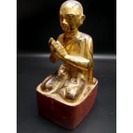 Statue bonze birman mil. XXème