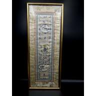 Tenture sur soie de Chine XIXème