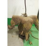 Lampe brahma 3 elephants mil. XXème