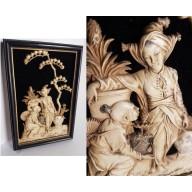 Tableau sculpté -  Japon -  XIXème