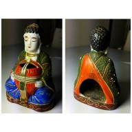 Porte encens en procelaine de bouddha