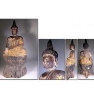 Magnifique et rare grand bouddha laotien XIXème