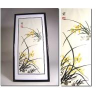 Peinture chinoise : Scène florale de Mr Ziang