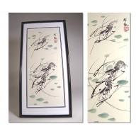 Peinture chinoise : Duo d'écrevisses de Mr Ziang