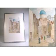 Peinture orientale : Village d'Orient de Ubaydulla P. KASIMOV