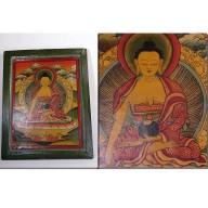 Peinture tangka sakyamuni tibétain XXème